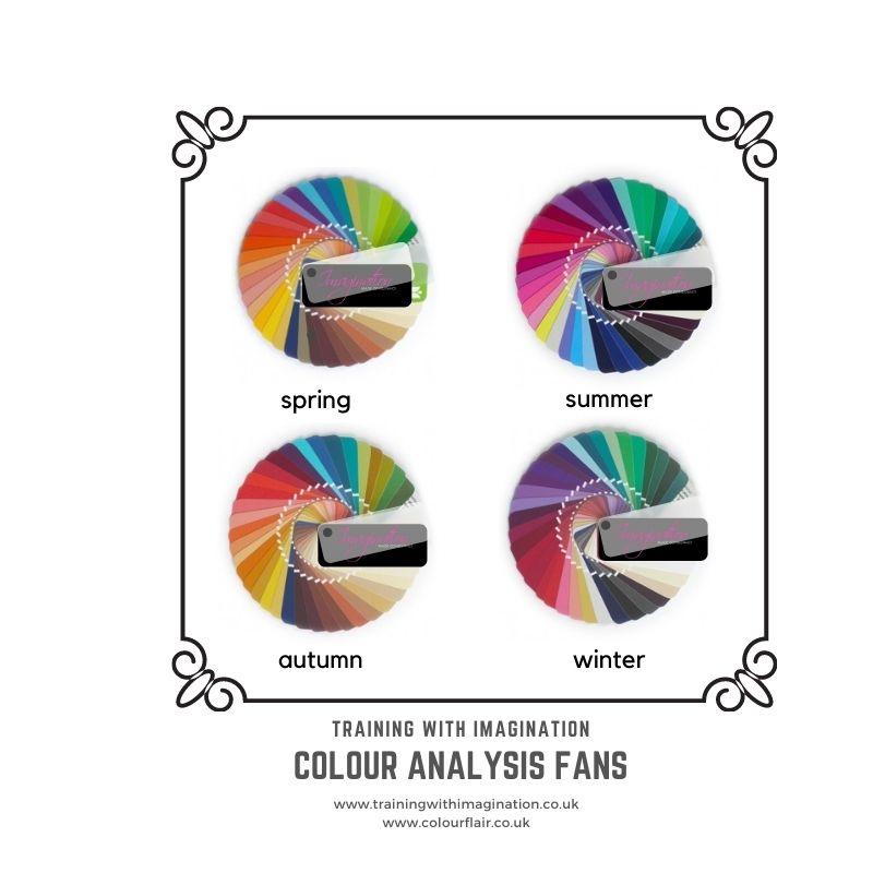 Four seasonal colour anlysis fans